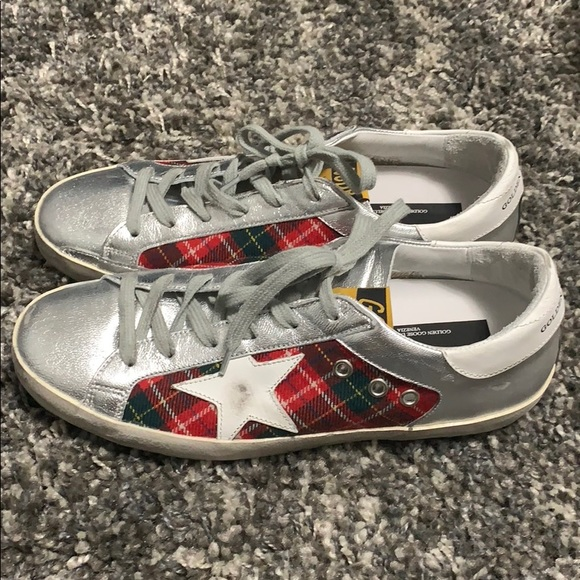 e9fe3b4fe72 Golden Goose Nordstrom exclusive red plaid silver